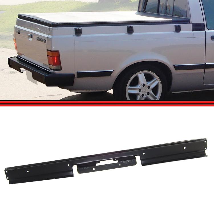 Parachoque Traseiro Chevy 500 83 a 92 Preto sem Furo Borrachão  - Amd Auto Peças