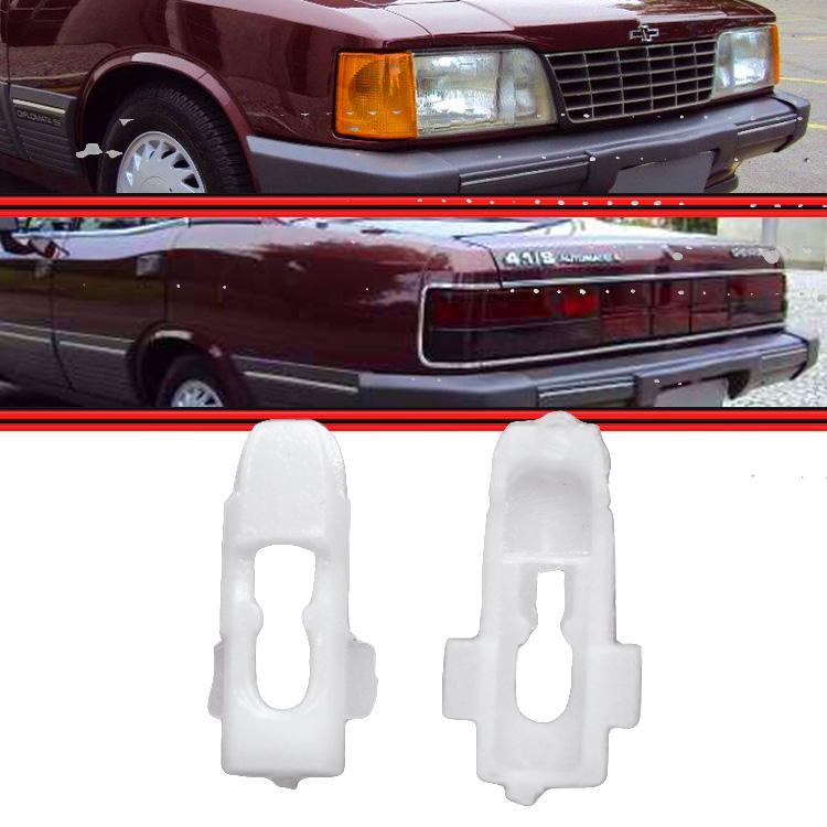 Kit Presilha Grampo do Friso Alumínio Farol e Lanteran Opala Caravan 81 a 89 10 Peças  - Amd Auto Peças