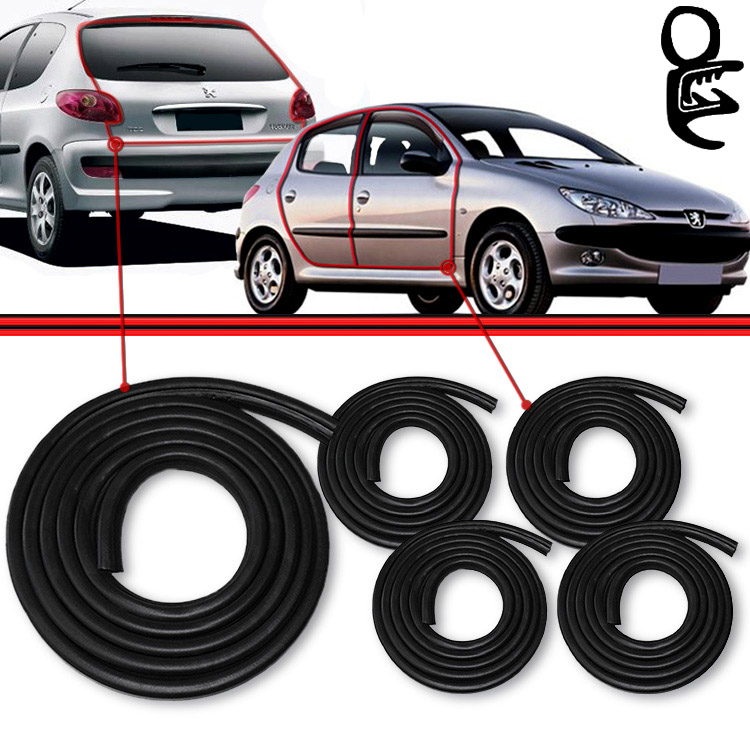 Kit Borracha Porta + Mala Peugeot 206 207 Peugeot 306 Peugeot 307 Passion 207 Scapade 206 207  (5pe�as)  - Amd Auto Pe�as