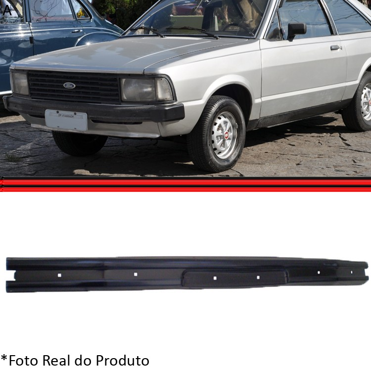 Parachoque Dianteiro L�mina Corcel II Belina II 80 a 85 Pampa 84 a 96  - Amd Auto Pe�as