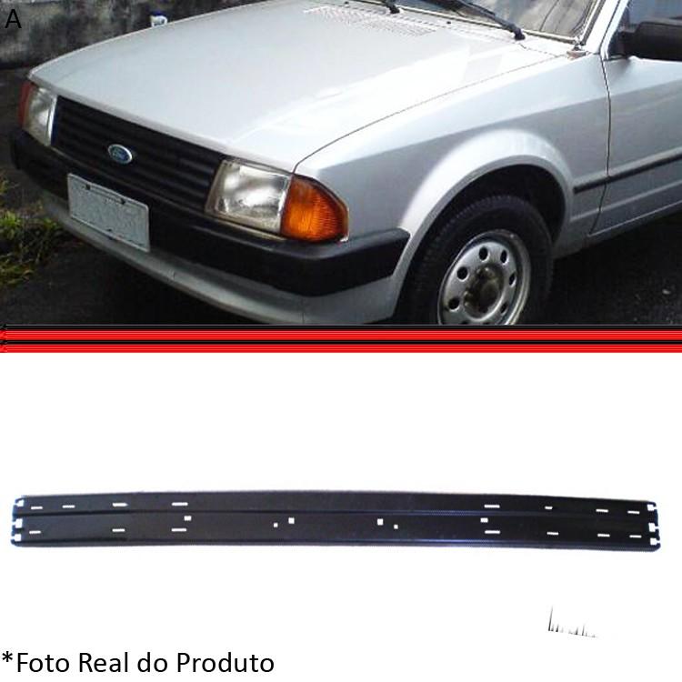 Parachoque Lamina Dianteiro Escort XR3 84 a 86 Com Furos Para Borrachão (Almofada)  - Amd Auto Peças