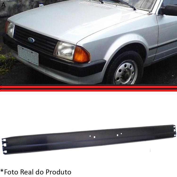 Parachoque Lamina Dianteiro Escort L GL 84 a 86 Sem Furo Preto  - Amd Auto Peças