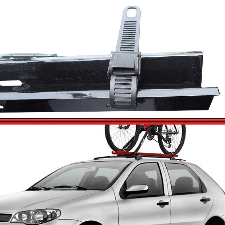 Rack Teto Travessa Suporte Bike Preto  - Amd Auto Pe�as