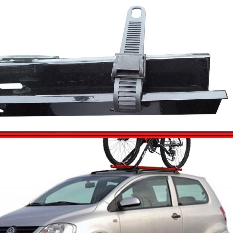 Kit Rack Travessa Wave Baixo + Suporte Bike Fox 04 em diante 2 Portas Preto  - Amd Auto Peças