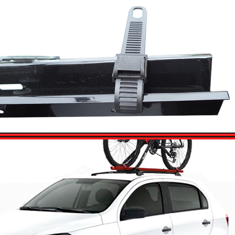 Kit Rack Travessa Wave Baixo + Suporte Bike Gol Voyage G5 08 a 13 4 Portas Preto  - Amd Auto Peças