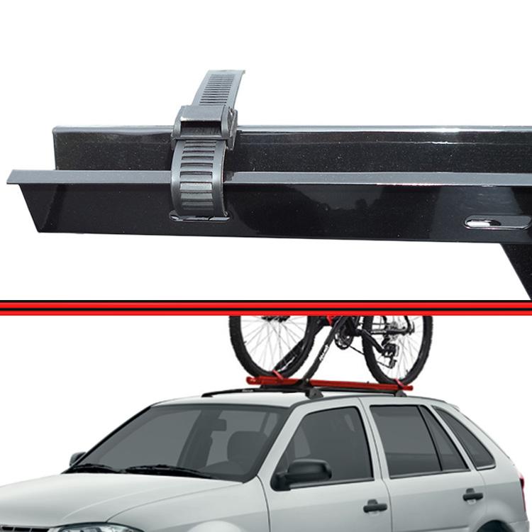 Kit Rack Travessa Wave Baixo + Suporte Bike Gol G3 G4 99 a 08 2 ou 4 Portas Preto  - Amd Auto Peças