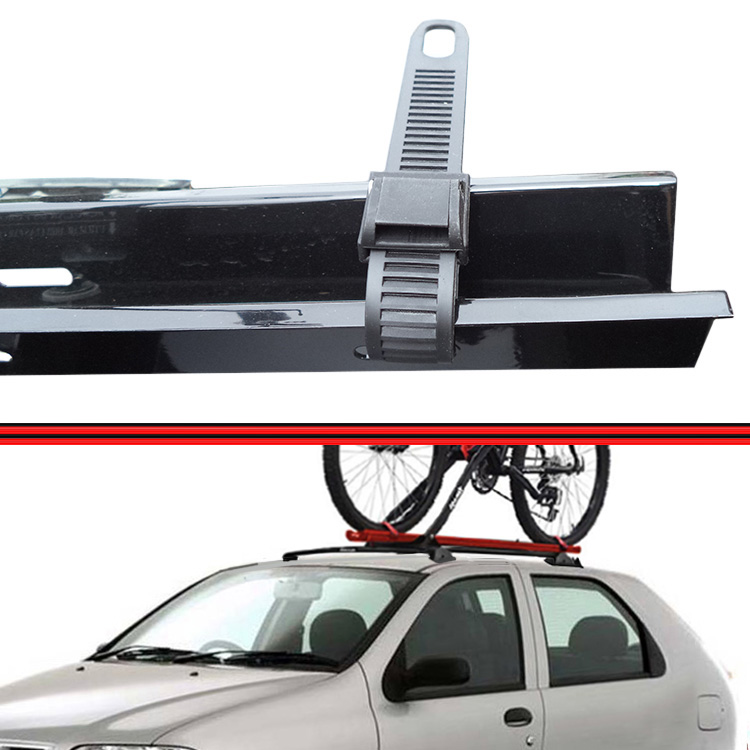 Kit Rack Travessa Wave Baixo + Suporte Bike Palio 96 a 06 Palio Fire 01 a 08 2 Portas Preto  - Amd Auto Peças