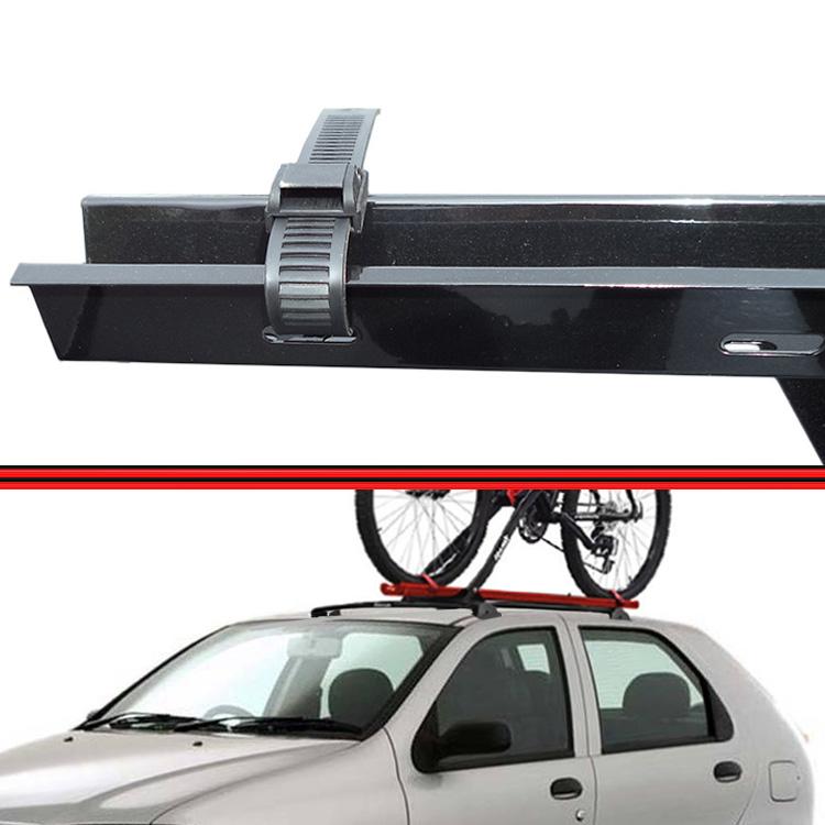 Kit Rack Travessa Wave Baixo + Suporte Bike Palio 96 a 06 Palio Fire 01 a 08 4 Portas Preto  - Amd Auto Pe�as