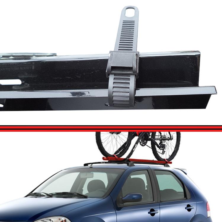 Kit Rack Travessa Wave Baixo + Suporte Bike Palio 12 em diante 4 Portas Preto  - Amd Auto Peças
