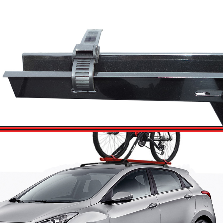 Kit Rack Travessa Wave Baixo + Suporte Bike I30 Preto  - Amd Auto Peças