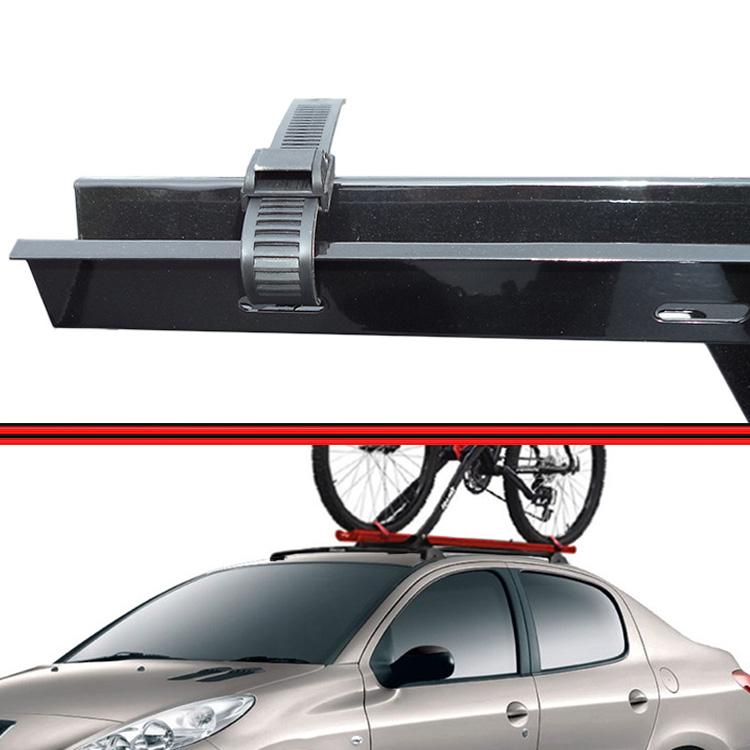 Kit Rack Travessa Wave Baixo + Suporte Bike 206 207 01 em diante 4 Portas Preto  - Amd Auto Peças