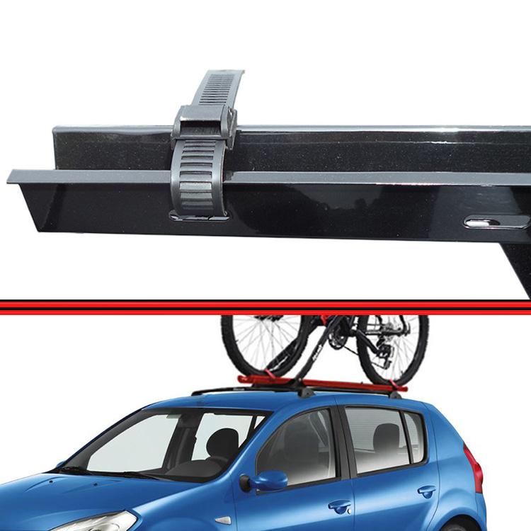 Kit Rack Travessa Wave Baixo + Suporte Bike Sandero 08 em diante 4 Portas Preto  - Amd Auto Peças