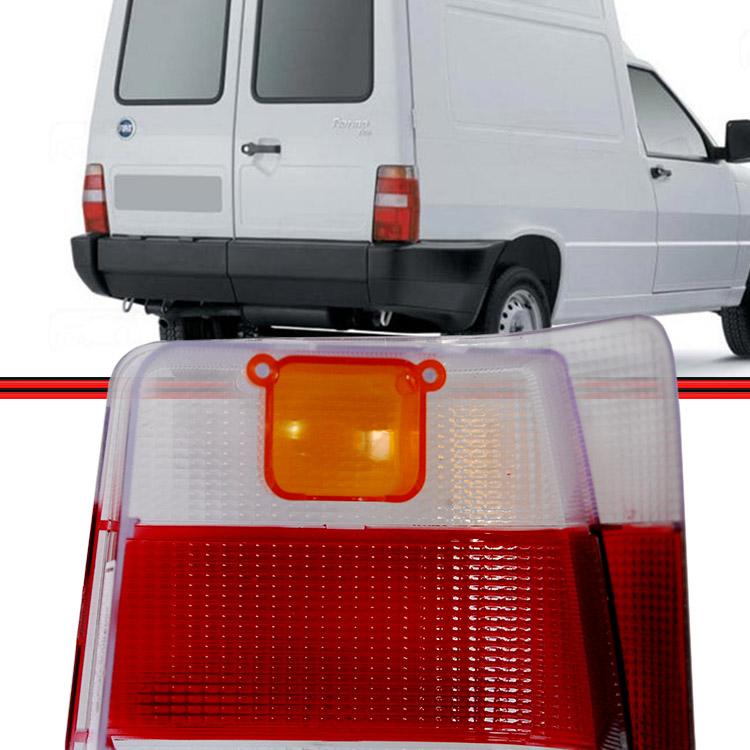 Lente Lanterna Traseira Fiorino 04 a 08 Bicolor  - Amd Auto Peças