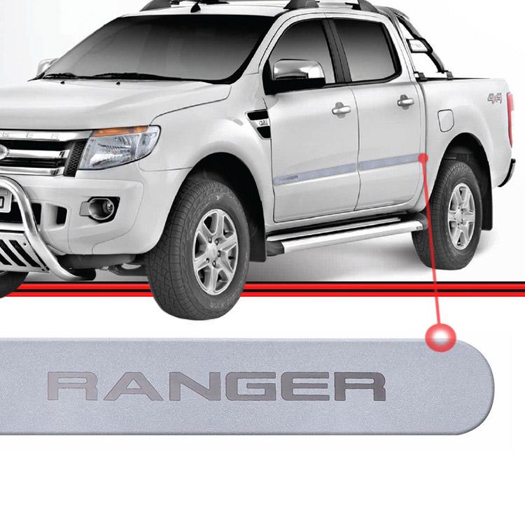 Jogo Friso Lateral Ranger 13 a 15 Cinza  - Amd Auto Peças