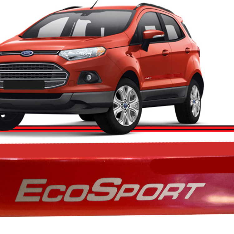 Jogo Friso Lateral Ecosport 10 a 15 Vermelho  - Amd Auto Peças