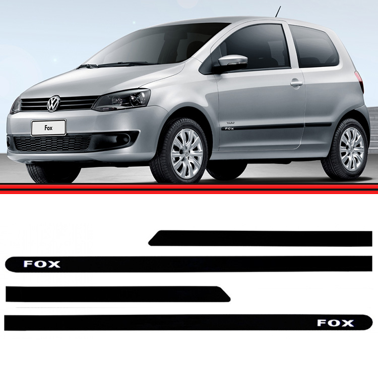 Jogo Friso Lateral Fox 03 a 14 Pintado Preto  - Amd Auto Peças