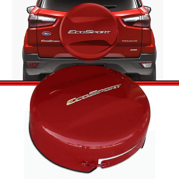 Capa Estepe Ecosport 12 a 15 Vermelha Aro 15 e 16  - Amd Auto Pe�as