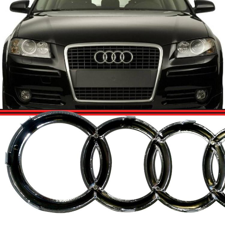 Emblema Logo Grade Dianteira Radiador Audi A3 Cromado  - Amd Auto Peças