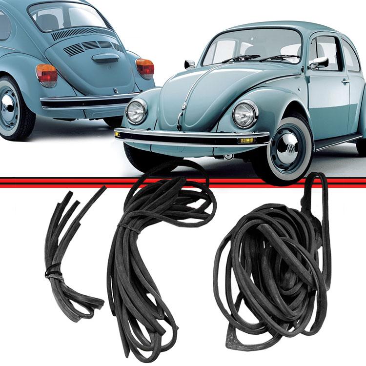 Kit Borracha Porta Capo e Motor Fusca 1200 1300 57 a 69 Fusc�o 1300L 1500 70 a 77 de Encaixe  - Amd Auto Pe�as