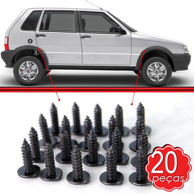Kit Parafuso Fixação Moldura Alargador Paralama Uno Way Economy 06 a 13 20 Unidades  - Amd Auto Peças