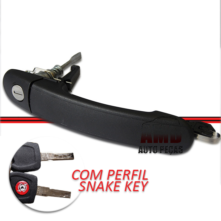 Maçaneta Externa Gol Parati GIII GIV 99 a 08 2 Portas Com Chave Snake Key  - Amd Auto Peças