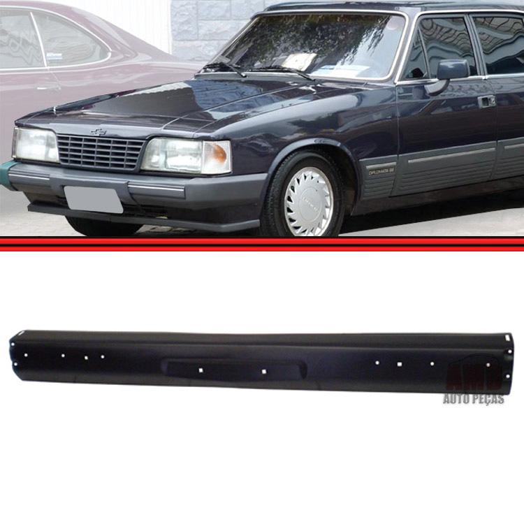 Parachoque Lâmina Dianteiro Opala e Caravan Diplomata 88 a 90 Preto Com Furos  - Amd Auto Peças