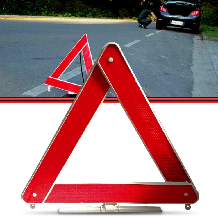 Triangulo de Segurança Vermelho Base Leve 3 Faixas