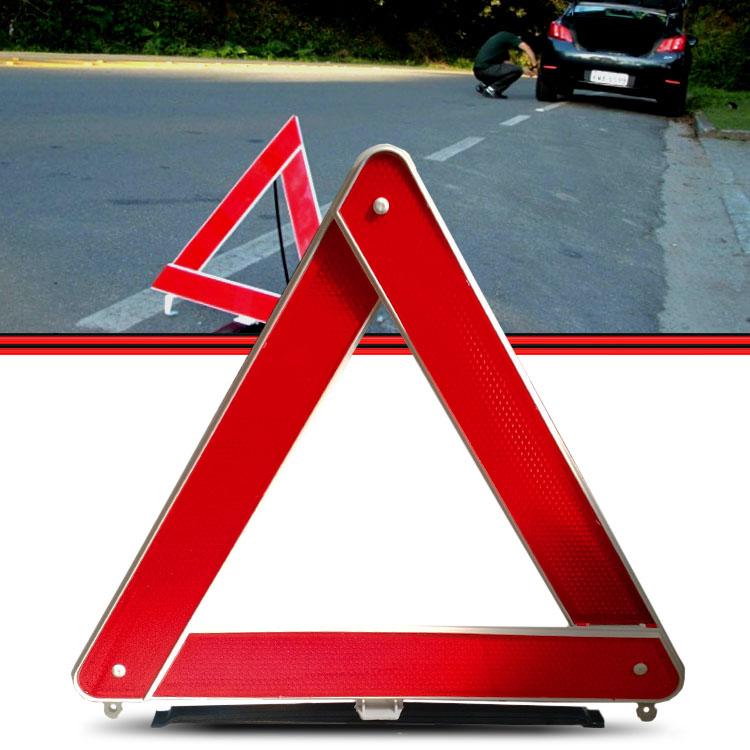 Triangulo de Segurança Vermelho Base Pesada 3 Faixas  - Amd Auto Peças