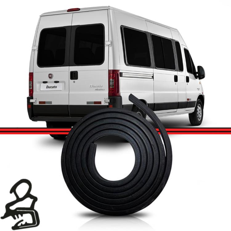 Borracha Porta Traseira Mala Ducato 98 a 16 Master Boxer (Mini Bus) 6,30 mts  - Amd Auto Peças