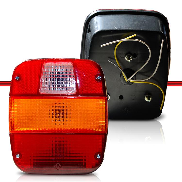 Lanterna Traseira Carreta Universal Caminhões Volks Ford Cargo Com Vigia de Luz de Placa  - Amd Auto Peças