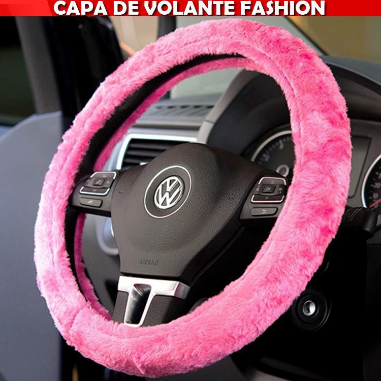 Capa Volante Tuning Pelucia Rosa Pink Rosinha  - Amd Auto Pe�as