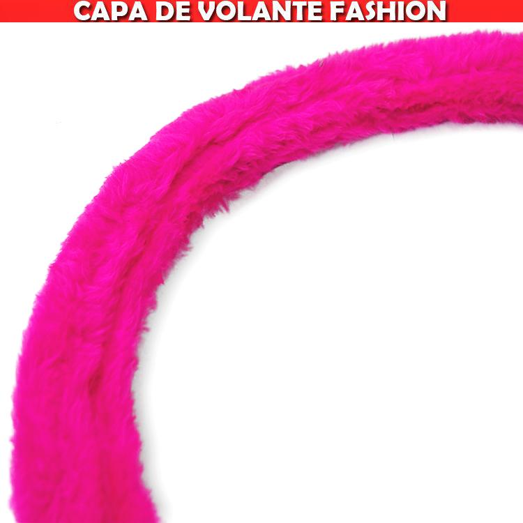 Capa Volante Tuning Pelucia Rosa Pink Rosinha  - Amd Auto Peças