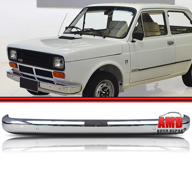 Parachoque Lamina Dianteiro Fiat 147 L Cromado Sem Furo  - Amd Auto Peças
