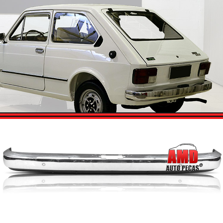 Parachoque Lamina Traseiro Fiat 147 L Cromado Sem Furo  - Amd Auto Pe�as