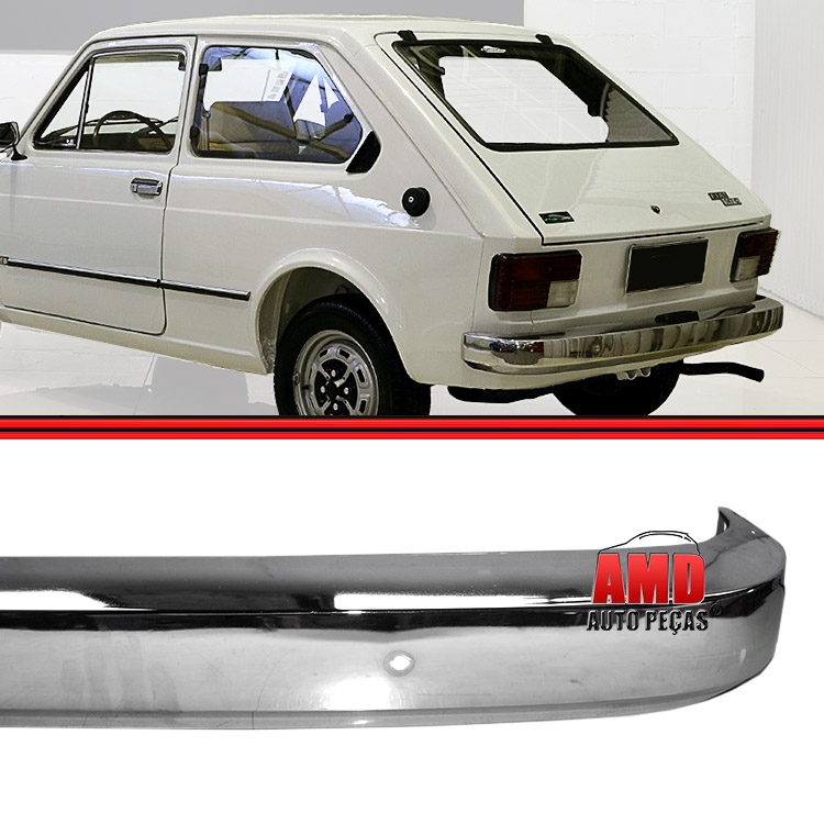 Parachoque Lamina Traseiro Fiat 147 L Cromado Sem Furo  - Amd Auto Peças