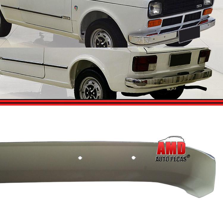 Kit Parachoque Lamina Dianteiro Traseiro Fiat 147 L Cromado Sem Furo  - Amd Auto Peças