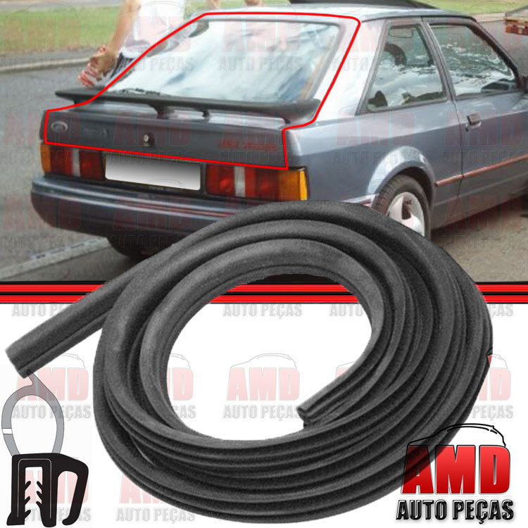 Borracha Porta Malas Escort Sapão 93 a 96 Escort Sapão Zetec SW 96 a 02 Fiesta Sedan 96 a 06 Focus Sedan Hatch 00 a 13 Ka 97 a 02  - Amd Auto Peças