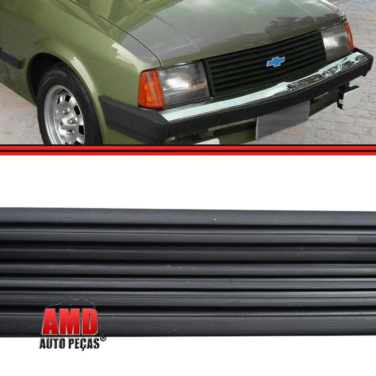 Friso Borrachão Parachoque Dianteiro Chevette Chevy Marajó 83 a 86 Preto  - Amd Auto Peças