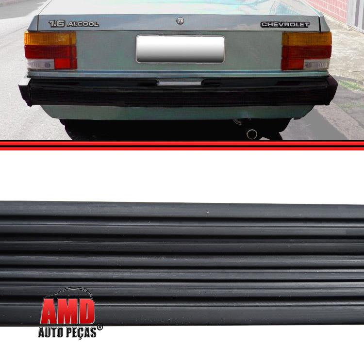Friso Borrachão Parachoque Traseiro Chevette Chevy Marajó 83 a 86 Preto  - Amd Auto Peças