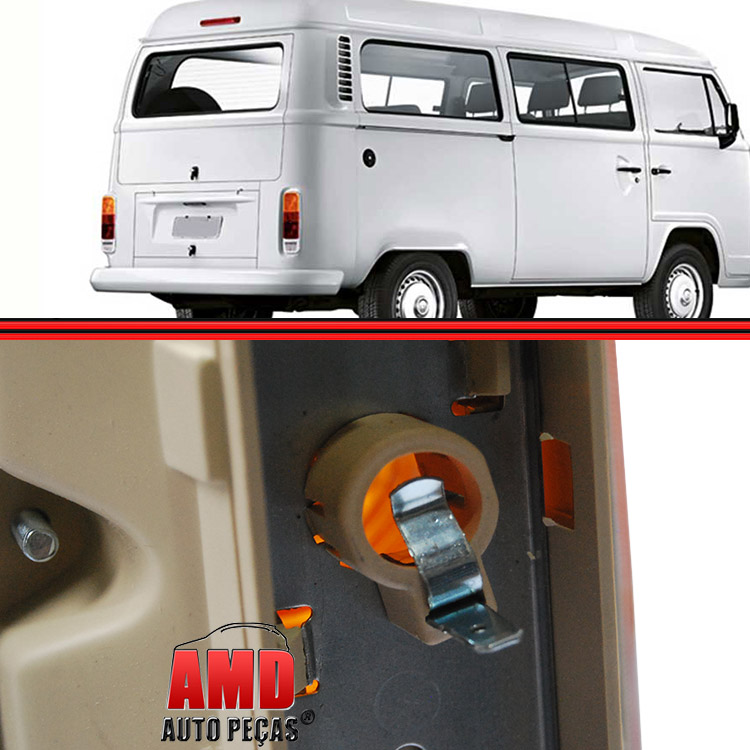 Lanterna Traseira Kombi Clipper 76 a 96 Kombi Carat 97 a 14 Tricolor  - Amd Auto Peças