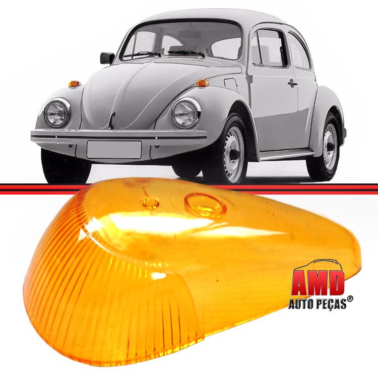 Par Lente Lanterna Dianteira Pisca Fusca Fuscao 71 a 96 Amarela  - Amd Auto Peças