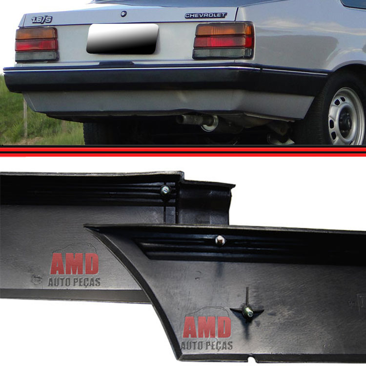 Kit Parachoque Traseiro + Ponteiras Chevette 87 A 93  - Amd Auto Peças