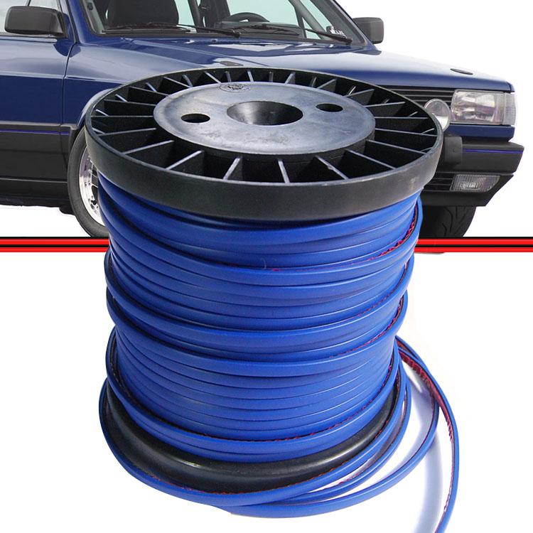Kit Friso Parachoque Gol GTS GTI GLS 87 a 94 Azul 10 Metros  - Amd Auto Peças