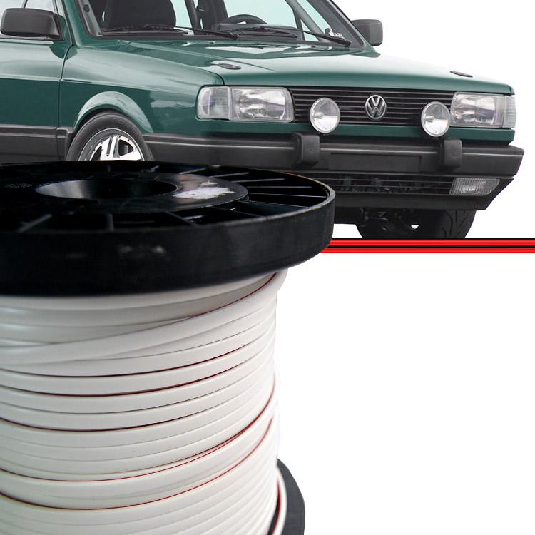 Kit Friso Parachoque Gol Voyage Parati 87 a 95 Saveiro 87 a 97 GTS GTI GLS Branco 10 Metros  - Amd Auto Peças