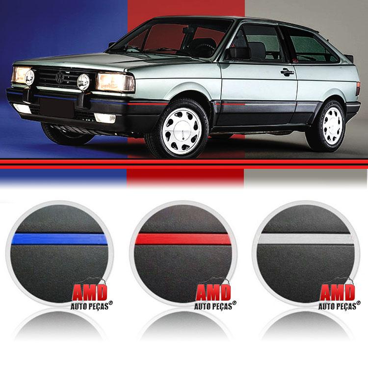 Kit Friso Parachoque Gol GTS GTI GLS Vermelho Branco Azul 87 a 94 (6 Metros)  - Amd Auto Peças