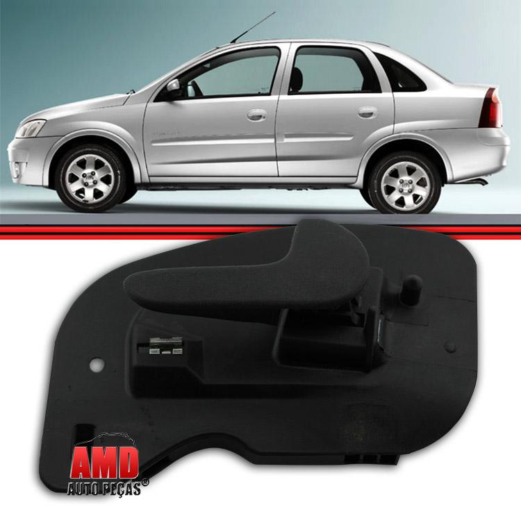 Maçaneta Interna Porta Dianteira Corsa Hatch 02 a 12 Corsa Sedan 02 a 12 Montana 02 a 12 2/4 Portas  - Amd Auto Peças