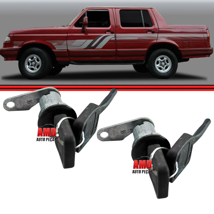 Par Cilindro C/Chave Porta Ford F1000 F350 F4000 F13000 93 a 98