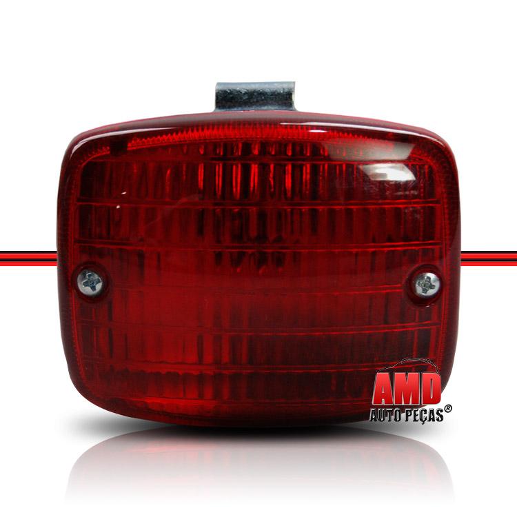 Par Lanterna Luz Ré Modelo Paquera Vermelho  - Amd Auto Peças