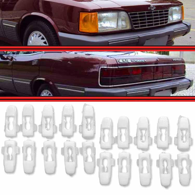 Kit Presilha Grampo do Friso Alumínio Opala Caravan 81 a 89 20 Peças  - Amd Auto Peças