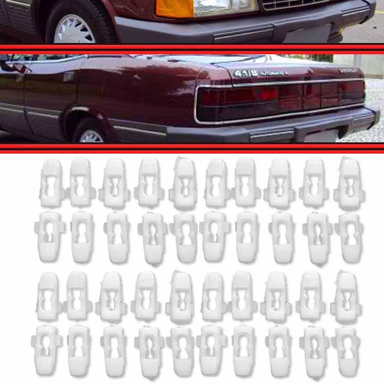 Kit Presilha Grampo do Friso Alumínio Opala Caravan 81 a 89 40 Peças  - Amd Auto Peças